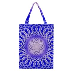 Swirling Dreams, Blue Classic Tote Bags