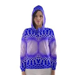 Swirling Dreams, Blue Hooded Wind Breaker (Women)