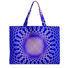 Swirling Dreams, Blue Zipper Tiny Tote Bags