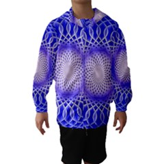 Swirling Dreams, Blue Hooded Wind Breaker (Kids)