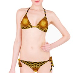 Swirling Dreams, Golden Bikini Set