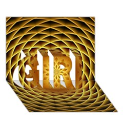 Swirling Dreams, Golden GIRL 3D Greeting Card (7x5)