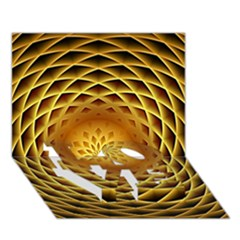 Swirling Dreams, Golden Love Bottom 3d Greeting Card (7x5)