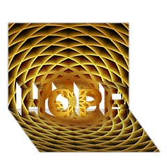 Swirling Dreams, Golden Hope 3d Greeting Card (7x5)