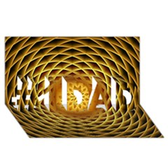 Swirling Dreams, Golden #1 Dad 3d Greeting Card (8x4)