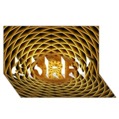 Swirling Dreams, Golden Sorry 3d Greeting Card (8x4)