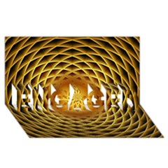 Swirling Dreams, Golden ENGAGED 3D Greeting Card (8x4)