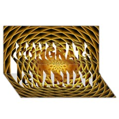 Swirling Dreams, Golden Congrats Graduate 3D Greeting Card (8x4)