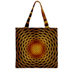 Swirling Dreams, Golden Grocery Tote Bags