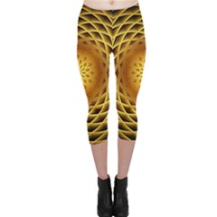 Swirling Dreams, Golden Capri Leggings