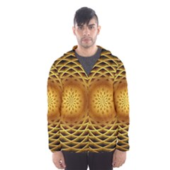 Swirling Dreams, Golden Hooded Wind Breaker (Men)