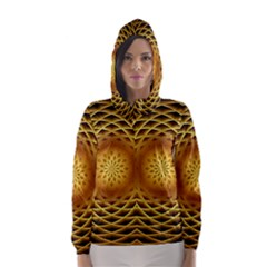 Swirling Dreams, Golden Hooded Wind Breaker (women)