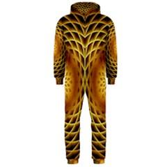 Swirling Dreams, Golden Hooded Jumpsuit (Men)