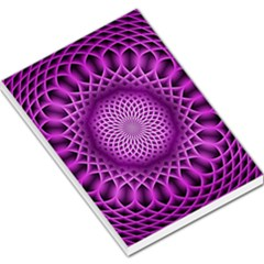 Swirling Dreams, Hot Pink Large Memo Pads