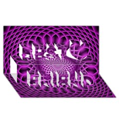 Swirling Dreams, Hot Pink Best Friends 3d Greeting Card (8x4)