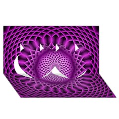 Swirling Dreams, Hot Pink Twin Hearts 3D Greeting Card (8x4)