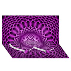 Swirling Dreams, Hot Pink Twin Heart Bottom 3d Greeting Card (8x4)