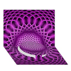 Swirling Dreams, Hot Pink Circle Bottom 3D Greeting Card (7x5)