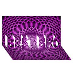 Swirling Dreams, Hot Pink BEST BRO 3D Greeting Card (8x4)