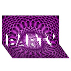 Swirling Dreams, Hot Pink Party 3d Greeting Card (8x4)