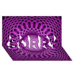 Swirling Dreams, Hot Pink SORRY 3D Greeting Card (8x4)