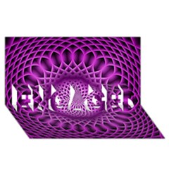 Swirling Dreams, Hot Pink ENGAGED 3D Greeting Card (8x4)