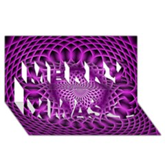 Swirling Dreams, Hot Pink Merry Xmas 3D Greeting Card (8x4)
