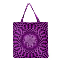 Swirling Dreams, Hot Pink Grocery Tote Bags