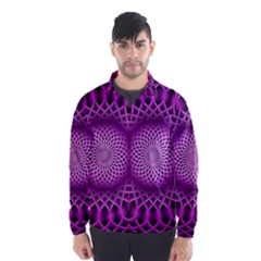 Swirling Dreams, Hot Pink Wind Breaker (Men)