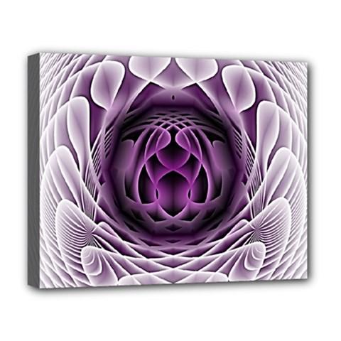 Swirling Dreams, Purple Deluxe Canvas 20  x 16