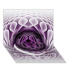 Swirling Dreams, Purple Heart Bottom 3D Greeting Card (7x5)