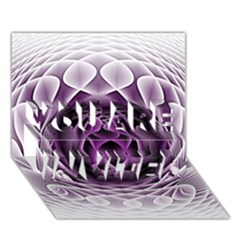 Swirling Dreams, Purple YOU ARE INVITED 3D Greeting Card (7x5)