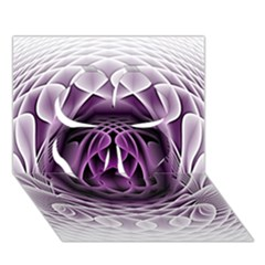 Swirling Dreams, Purple Clover 3D Greeting Card (7x5)