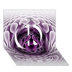 Swirling Dreams, Purple Peace Sign 3D Greeting Card (7x5)