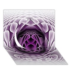 Swirling Dreams, Purple Circle 3D Greeting Card (7x5)