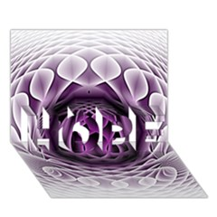 Swirling Dreams, Purple Hope 3d Greeting Card (7x5)