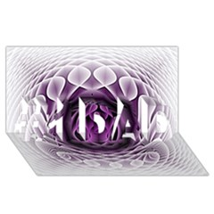 Swirling Dreams, Purple #1 DAD 3D Greeting Card (8x4)