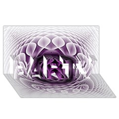 Swirling Dreams, Purple PARTY 3D Greeting Card (8x4)