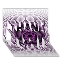 Swirling Dreams, Purple THANK YOU 3D Greeting Card (7x5)