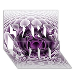 Swirling Dreams, Purple Take Care 3d Greeting Card (7x5)