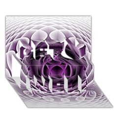 Swirling Dreams, Purple Get Well 3d Greeting Card (7x5)