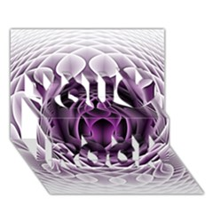 Swirling Dreams, Purple You Rock 3D Greeting Card (7x5)