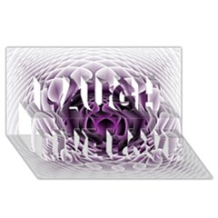 Swirling Dreams, Purple Laugh Live Love 3d Greeting Card (8x4)