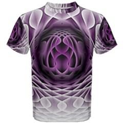 Swirling Dreams, Purple Men s Cotton Tees
