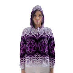 Swirling Dreams, Purple Hooded Wind Breaker (Women)