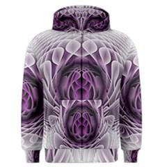 Swirling Dreams, Purple Men s Zipper Hoodies