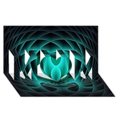 Swirling Dreams, Teal Mom 3d Greeting Card (8x4)