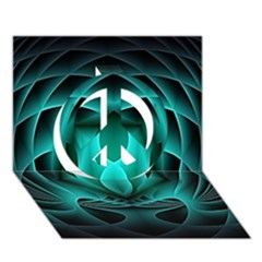 Swirling Dreams, Teal Peace Sign 3D Greeting Card (7x5)