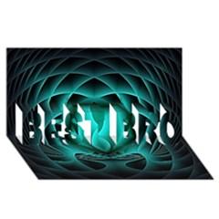 Swirling Dreams, Teal BEST BRO 3D Greeting Card (8x4)