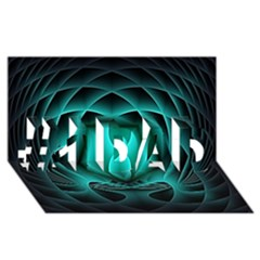 Swirling Dreams, Teal #1 Dad 3d Greeting Card (8x4)